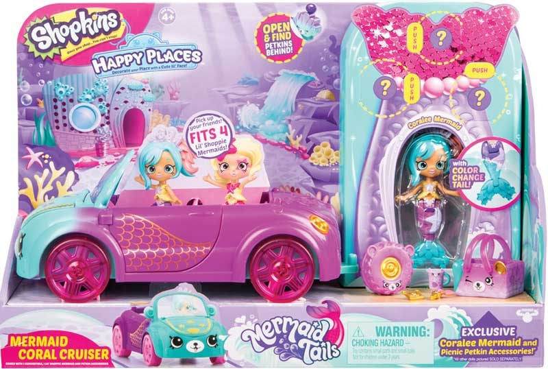 Wholesalers of Shopkins Happy Places Mermaid Tails Coral Cruiser Playset toys