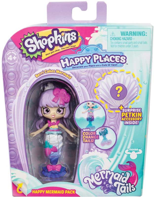 Wholesalers of Shopkins Happy Places Mermaid Tails Dolls & Sea Horses Packs toys