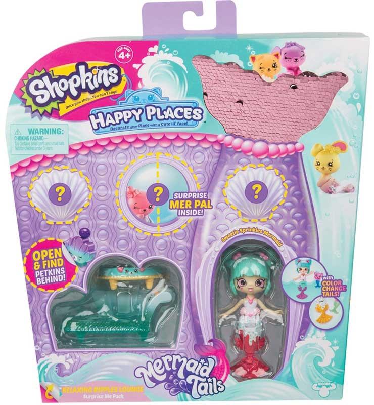 Wholesalers of Shopkins Happy Places Mermaid Tails Surprise Me Packs 4 Asst toys