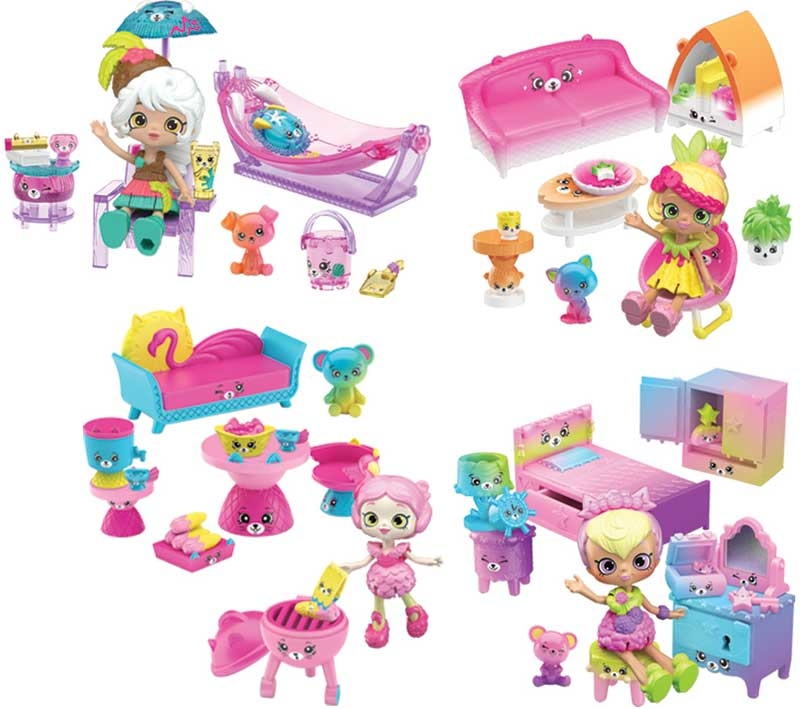 Wholesalers of Shopkins Happy Places Rainbow Beach Welcome Packs 4 Asst toys