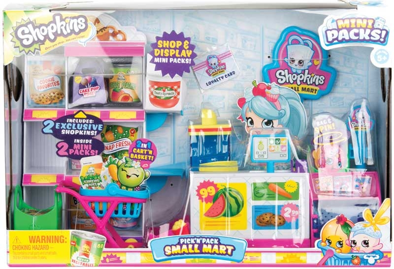 Wholesalers of Shopkins Mini Packs Pick N Pack Small Mart Playset toys