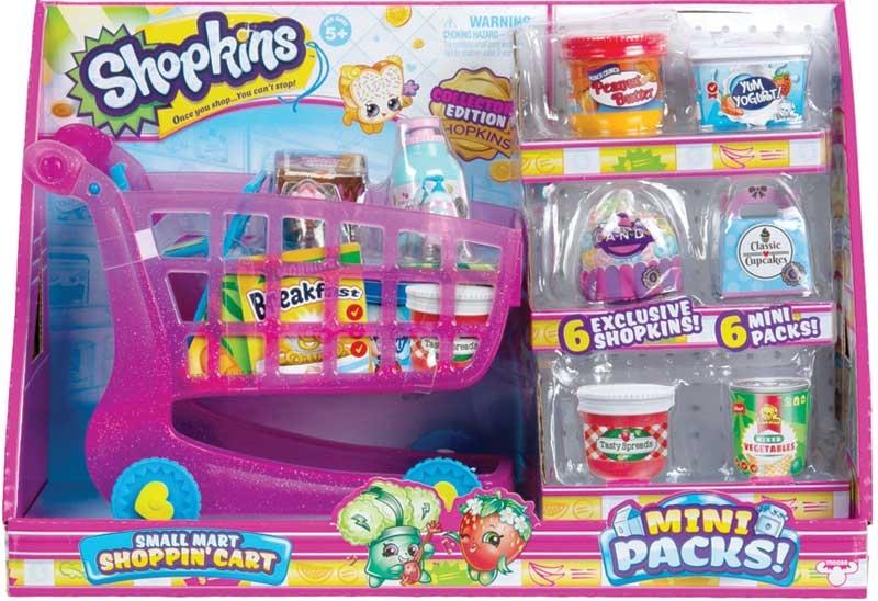 Wholesalers of Shopkins Mini Packs Small Mart Shoppin Cart toys