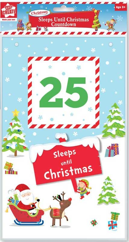 Until Christmas.Sleeps Until Christmas Countdown Wholesale