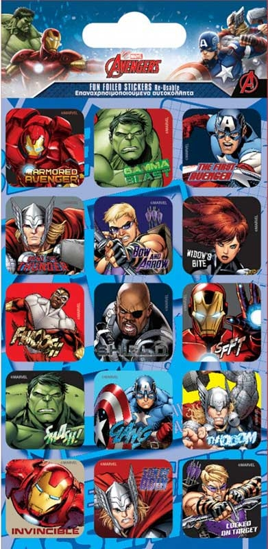 Wholesalers of Marvel Avengers Captions Stickers toys