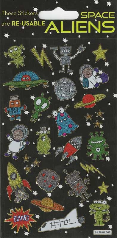 Wholesalers of Aliens Themed Stickers toys
