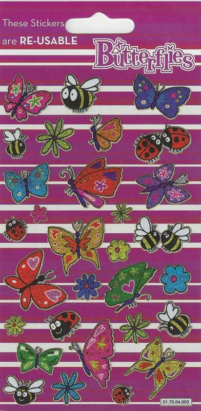 Wholesalers of Butterflies Theme Stickers toys