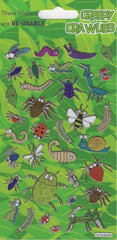 Wholesalers of Creepy Crawlies Theme Stickers toys