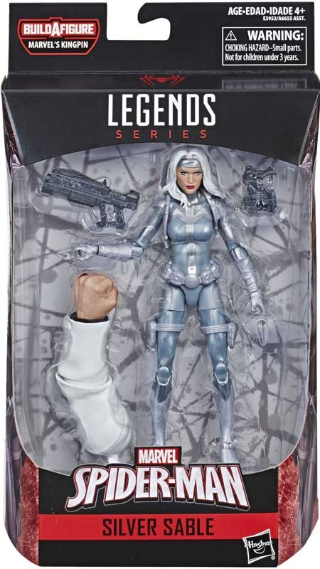 Wholesalers of Spiderman 6 Inch Infinite Legends Silver Sable toys