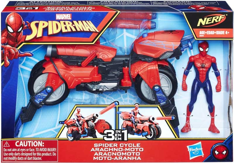 Wholesalers of Spiderman 6in Spider Cycle toys