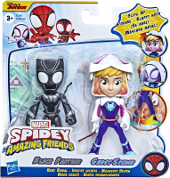 Wholesalers of Spiderman Amazing Friends Ghost And Black Panther toys image