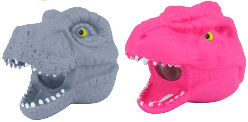 Wholesalers of Squeeze Dinosaur Head With Beads 9cm toys