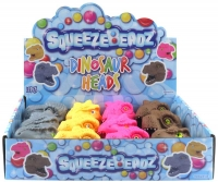 Wholesalers of Squeeze Dinosaur Head With Beads 9cm toys image 3