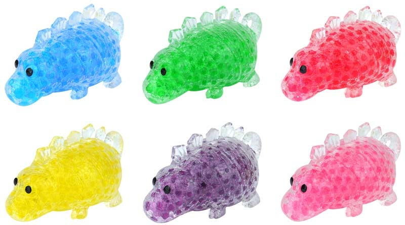 Wholesalers of Squeeze Dinosaur With Beads 12cm toys