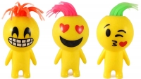 Wholesalers of Squeeze Man Smile Face With Light 10 Cm 6 Asst toys image 2