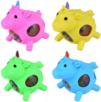 Wholesalers of Squeeze Unicorn With Beads 9cm toys image
