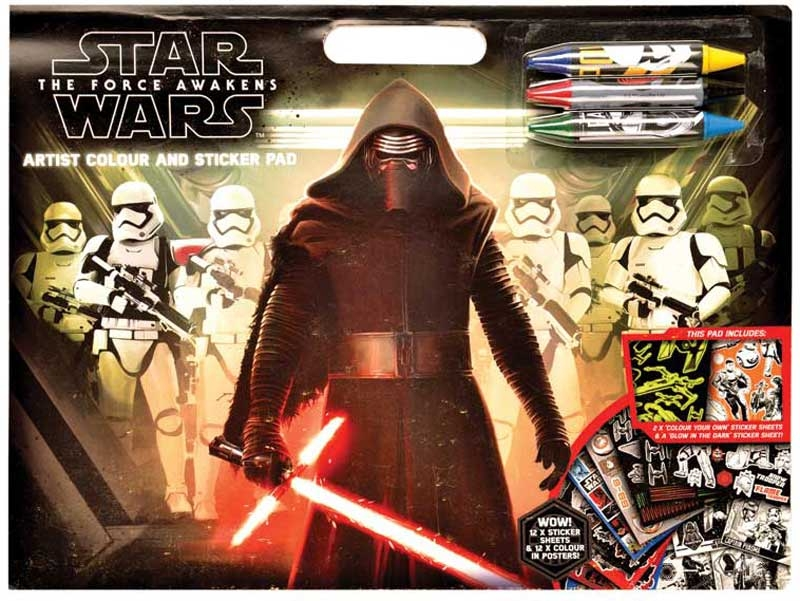 Wholesalers of Star Wars Episode 7 Artist Colour And Sticker Pad toys
