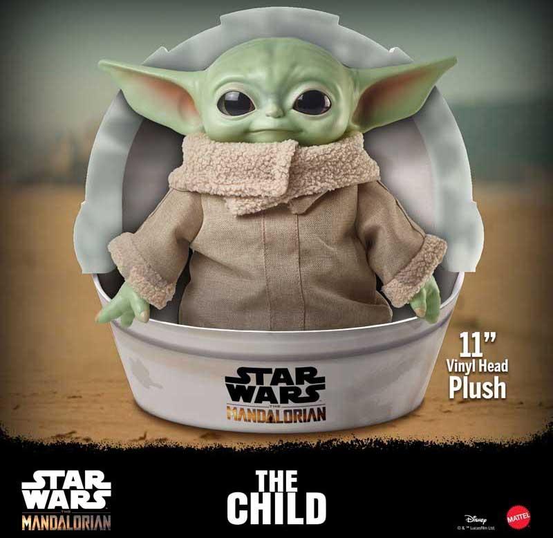 Wholesalers of Star Wars The Mandalorian 11 Inch Baby Yoda Plush toys