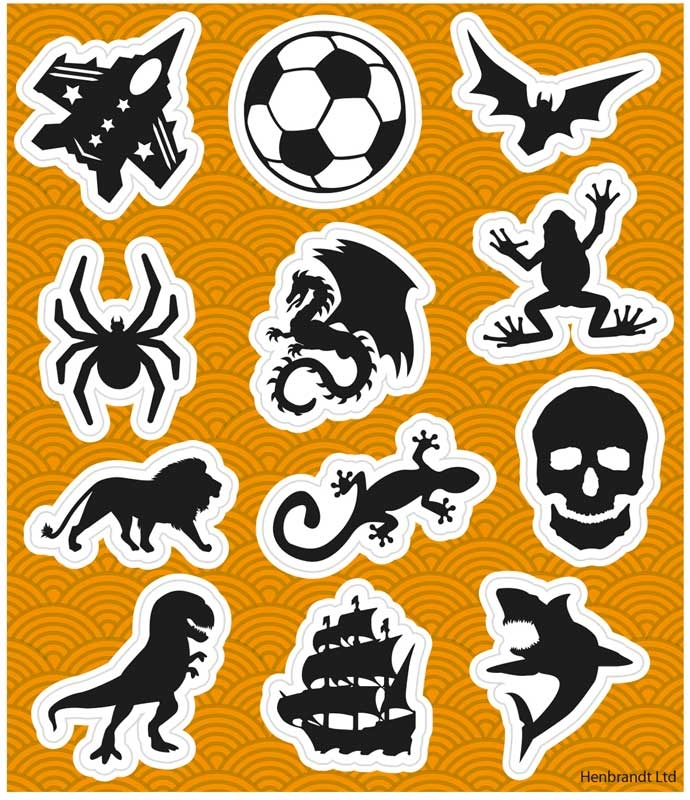 Wholesalers of Stickers Boys 10x11.5cm toys