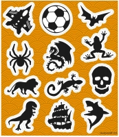 Wholesalers of Stickers Boys 10x11.5cm toys image