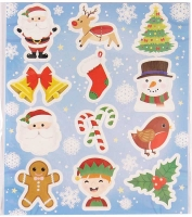 Wholesalers of Stickers Christmas 10 X 11cm toys image