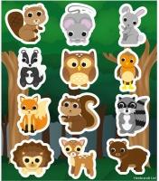 Wholesalers of Stickers Woodlands 10x11.5cm 12pcs toys image