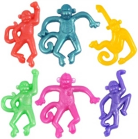 Wholesalers of Stretchies Stretch Monkey 6.5cm 4 Asst 6 Cols toys image