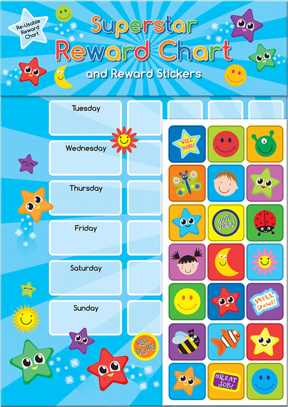 Wholesalers of Superstar Reward Chart Reward Chart And Stickers toys