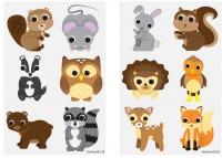 Wholesalers of Tattoos Mini 4cm Woodlands toys image