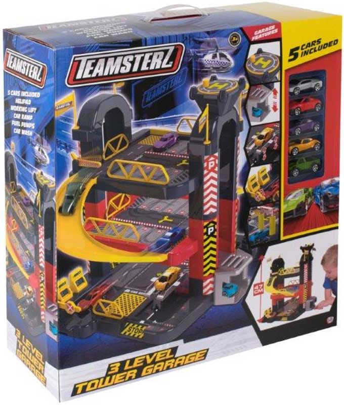 Wholesalers of Teamsterz 3 Level Tower Garage 5 Cars toys
