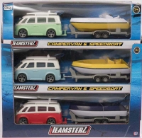 Wholesalers of Teamsterz 4 Inch Campervan & Speedboat Asst toys image