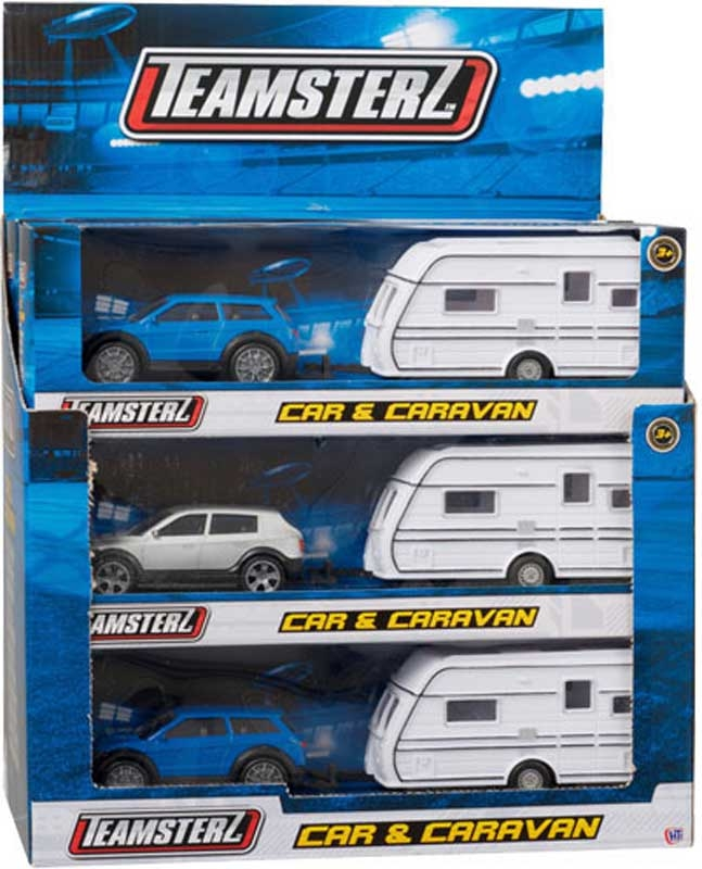 Wholesalers of Teamsterz Car And Caravan Asst toys