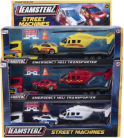 Wholesalers of Teamsterz Street Machines Heli Transporter toys image