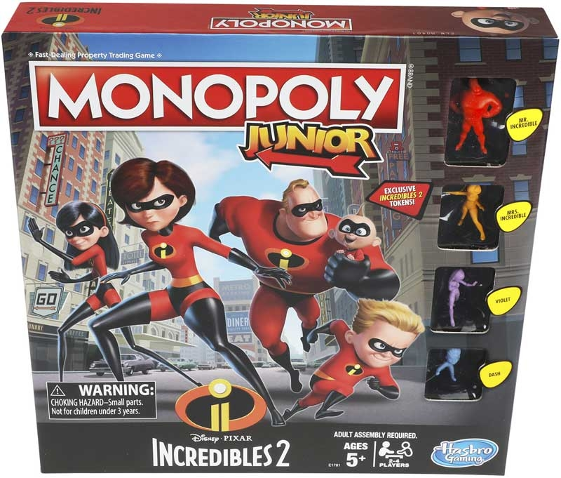 Wholesalers of The Incredibles Monopoly Junior toys