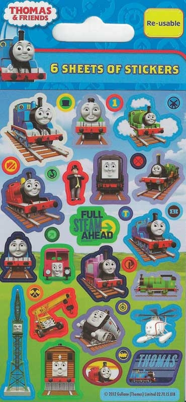Wholesalers of Thomas & Friends 6 Sheet Party Stickers toys