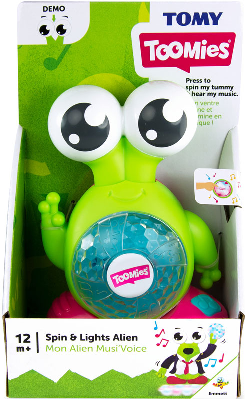Wholesalers of Toomies Spin And Lights Alien toys