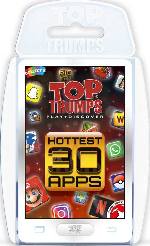 Wholesalers of Top Trumps Hottest 30 Apps toys