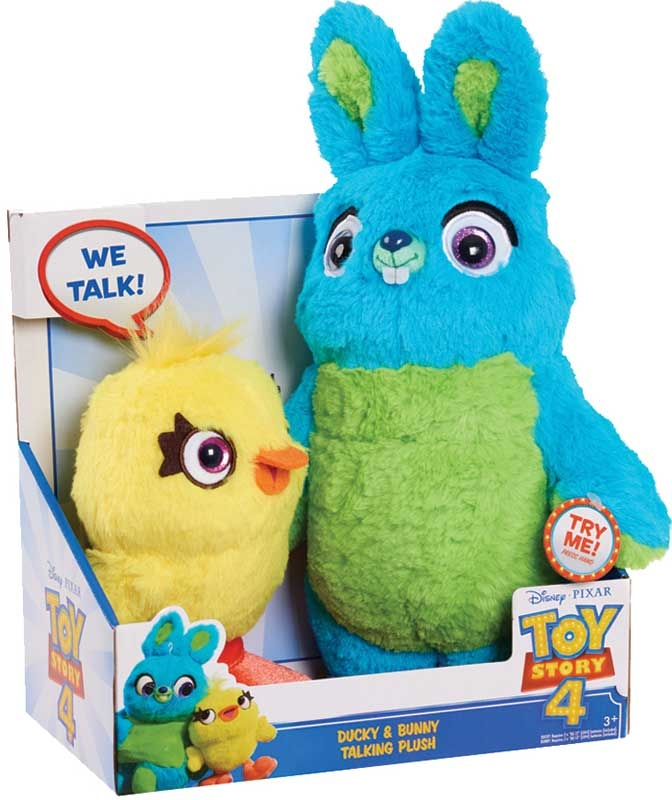 Wholesalers of Toy Story 4 Ducky Bunny Talking Plush toys