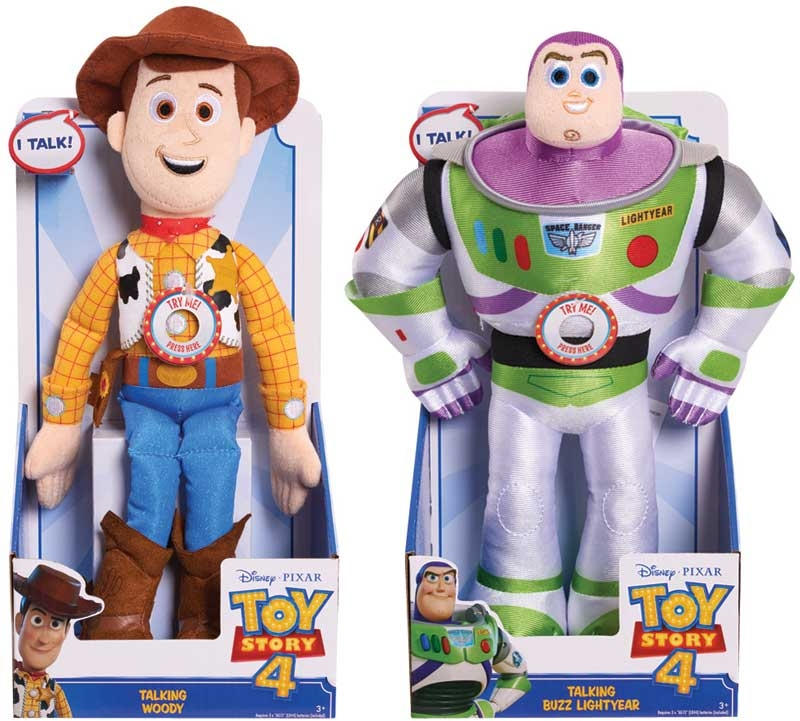 Wholesalers of Toy Story 4 Talking Plush Asst toys