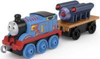 Wholesalers of Trackmaster Push Along Large Engine Thomas With Rocket toys image