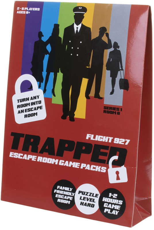 Wholesalers of Trapped Escape Room Game Packs Flight 937 toys