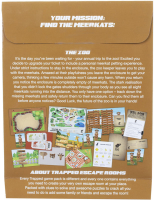 Wholesalers of Trapped Escape Room Game Packs The Zoo toys image 3