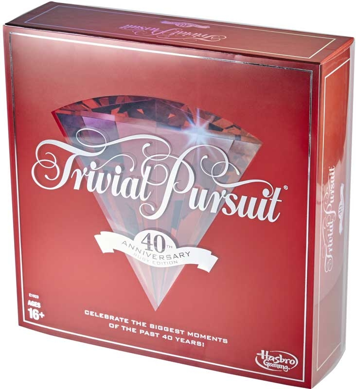Wholesalers of Trivial Pursuit 40th Anniversary Ruby Ed toys