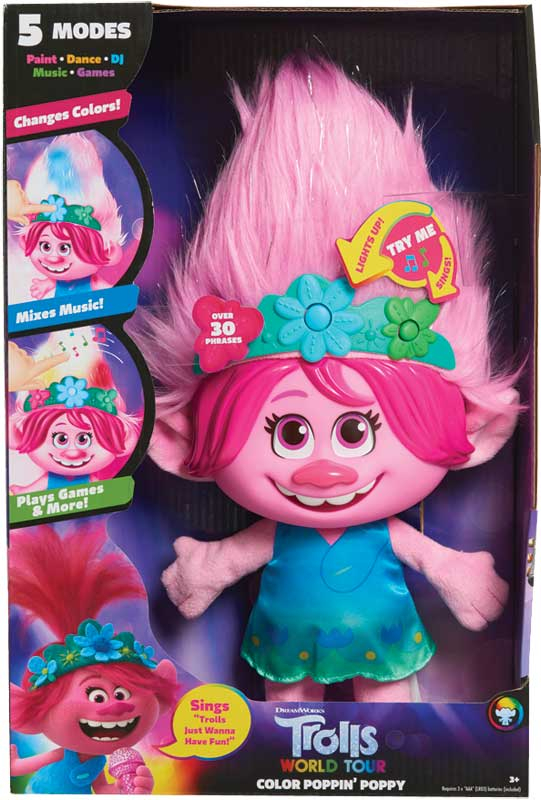 Wholesalers of Trolls World Tour Colour Poppin Poppy toys