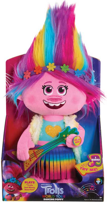 Wholesalers of Trolls World Tour Dancing Feature Poppy Plush toys