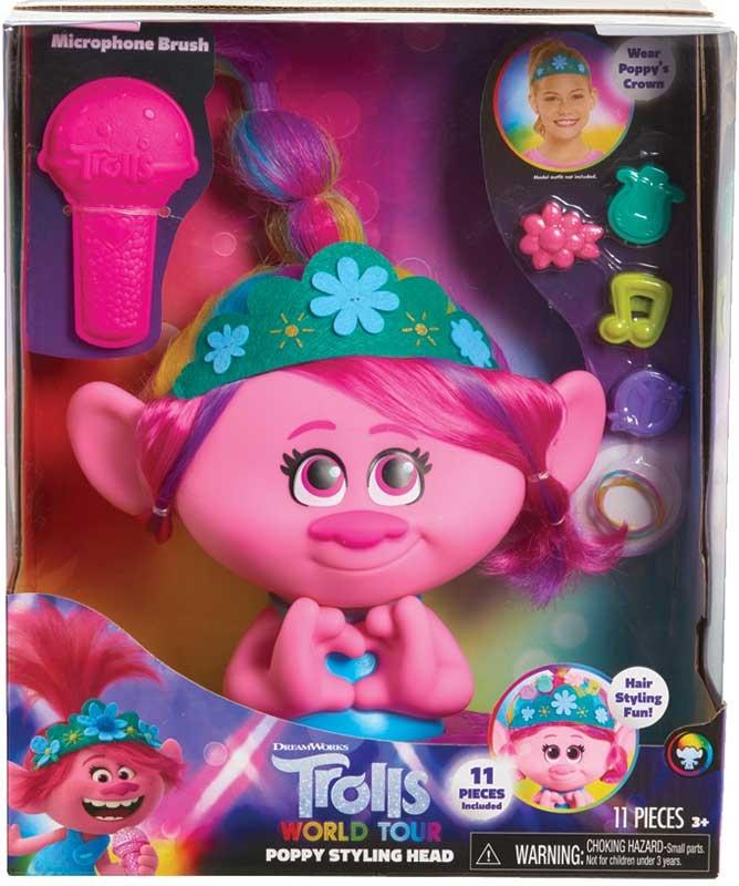 Wholesalers of Trolls World Tour Poppy Styling Head toys