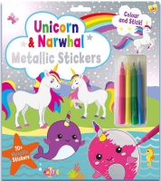 Wholesalers of Unicorn Metallic Sticker Set toys image
