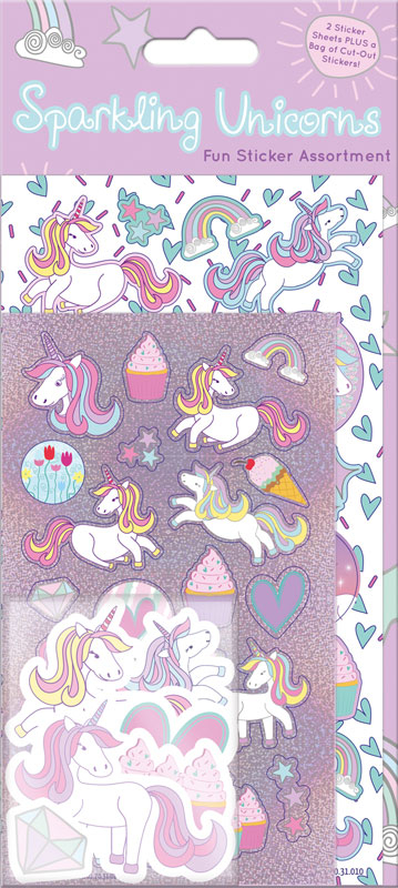Wholesalers of Unicorns  Assortment Pack Stickers toys