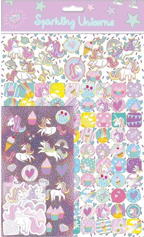 Wholesalers of Unicorns 3 Mega Sticker Pack toys