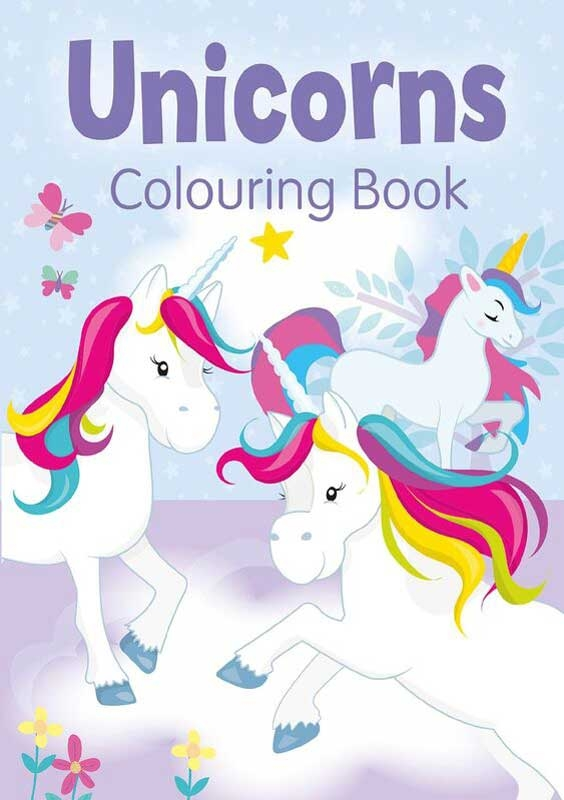 Wholesalers of Unicorns Colouring Book Purple toys