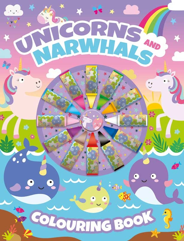Wholesalers of Unicorns Colouring Book With Crayons toys